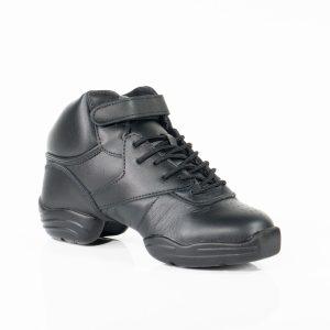 Hoge zwarte danssneakers met splitzool Capezio DS01